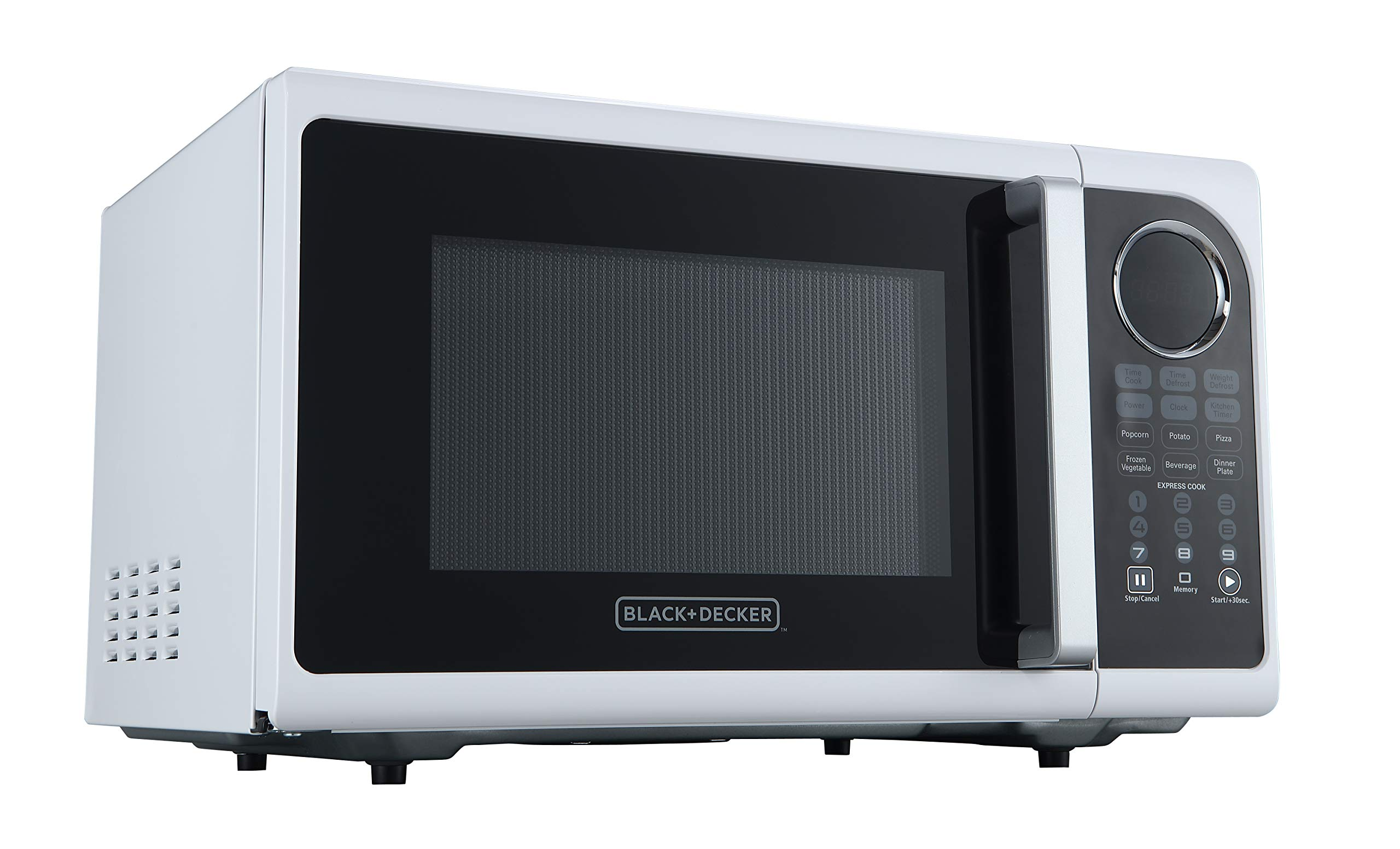 Black+Decker EM925ACP-P1 0.9 Cu. Ft. Digital Microwave, White by BLACK+DECKER (Image #2)