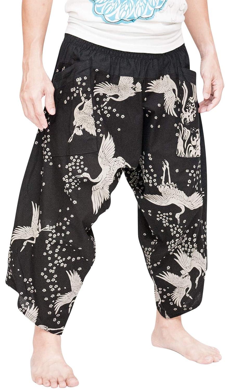 BohoHill Ninja Warrior Samurai Harem Pants Unisex Trousers ...