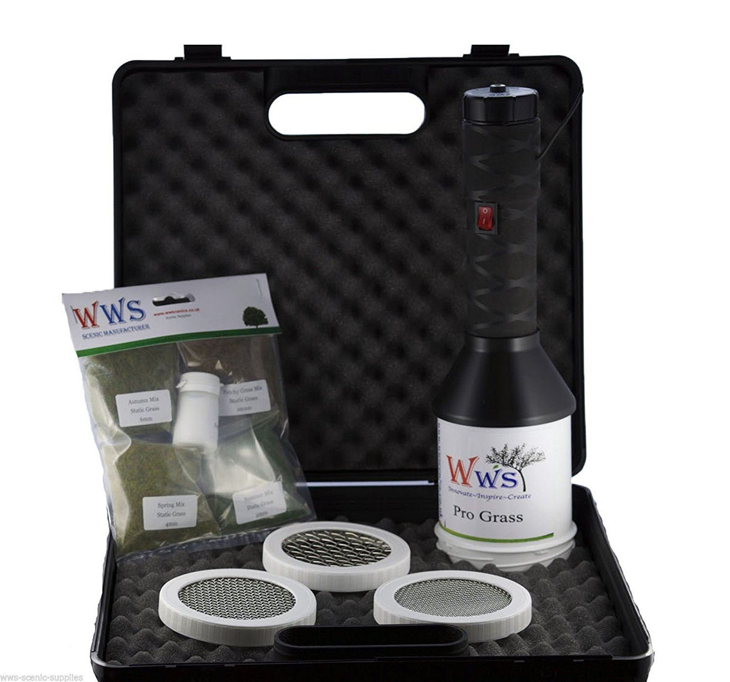 Pro Grass Applicator Static Grass Starter Kit by WWS by WWS Scenic Manufacturer