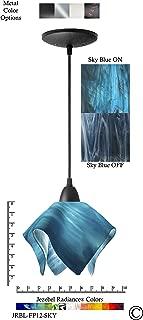 product image for Jezebel Radiance JRBL-FP12-SKY Black Flame Pendant, Small, Sky Blue