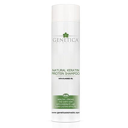 Genetica Champú Ecológico Natural con Keratina y Aceite de Linaza, 250 ml