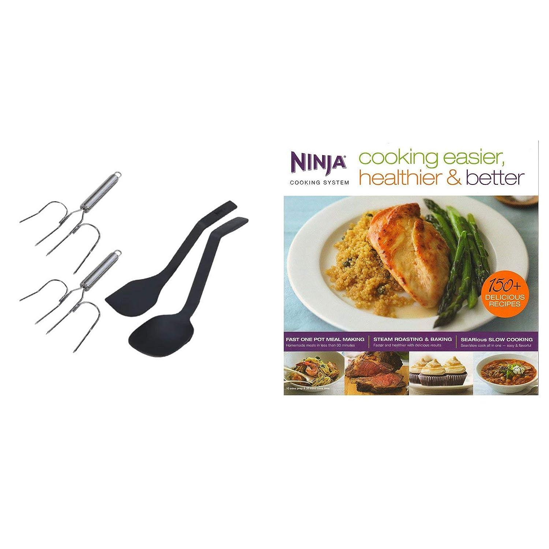 Ninja Roaster Utensil Kit + Cooking Easier, Healthier, Better 150 Recipe Book