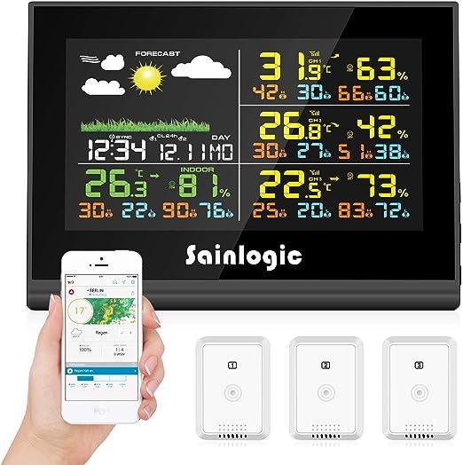 sainlogic FT0850 Plus - Estación meteorológica inalámbrica (WLAN ...