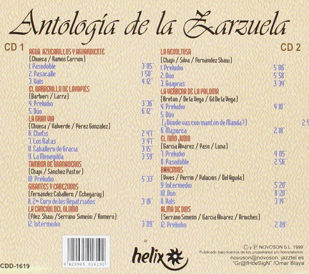 Antología de La Zarzuela: Coro Cantores de Madrid Orquesta Lírica de Conciertos, Maestro Moreno Torroba: Amazon.es: Música
