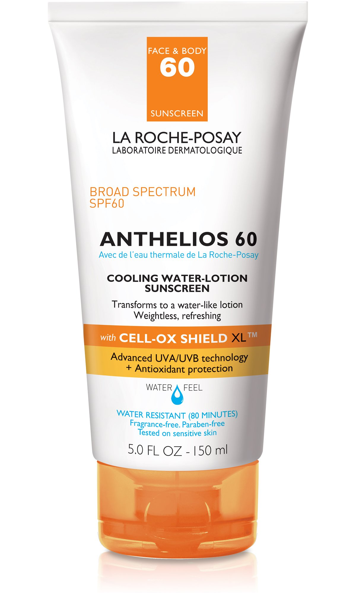 La Roche-Posay Anthelios Cooling Water Lotion Sunscreen SPF 60, 5 Fl. Oz. by La Roche-Posay