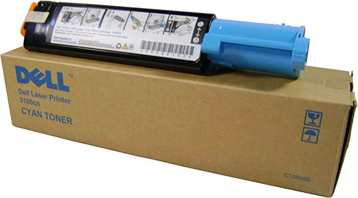 Dell K4973 Cyan Toner Cartridge 3100cn Color Laser Printer