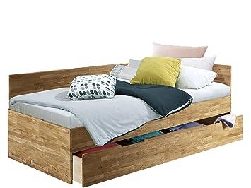 Funktionsbett 90x200 eiche  Funktionsbett Einzelbett Bett KINGDOM 90x200 cm mit Bettkasten aus ...