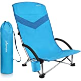 MOVTOTOP Folding Camping Beach Chair, 2020 Newest Portable Outdoor Backpack Camping Chair, High Back Rest Patio Chairs…