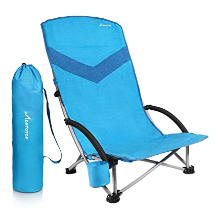 Phenomenal Movtotop Folding Beach Chair Newest 2019 Portable Outdoor Backpack Camping Chair High Back Rest Beach Chairs With Carry Bag Heavy Duty 300 Lbs Frankydiablos Diy Chair Ideas Frankydiabloscom
