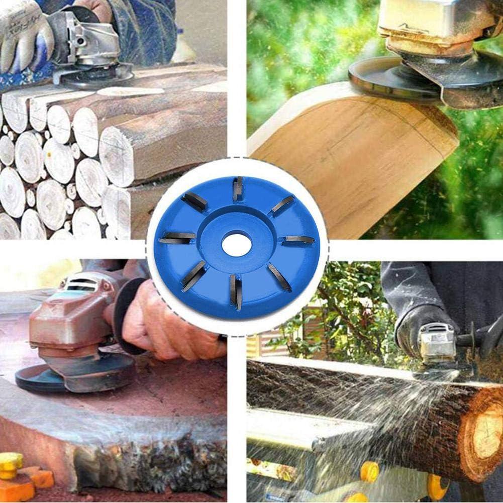 cedarfiny Disque De Sculpture sur Bois /À 8 Dents 90MM Outil De Coupe De Fraisage du Bois Roue De Polissage pour Meuleuse dangle Douverture 16MM