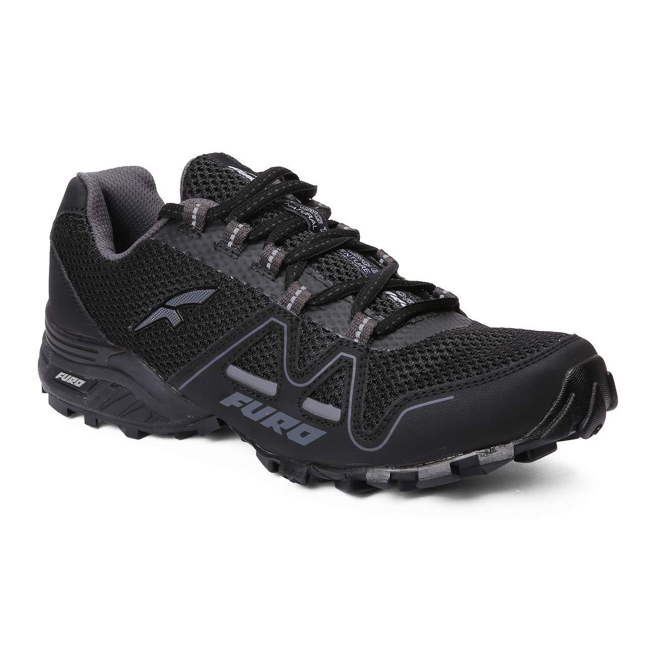 Buy FURO Men's Black Sports Shoes - 7