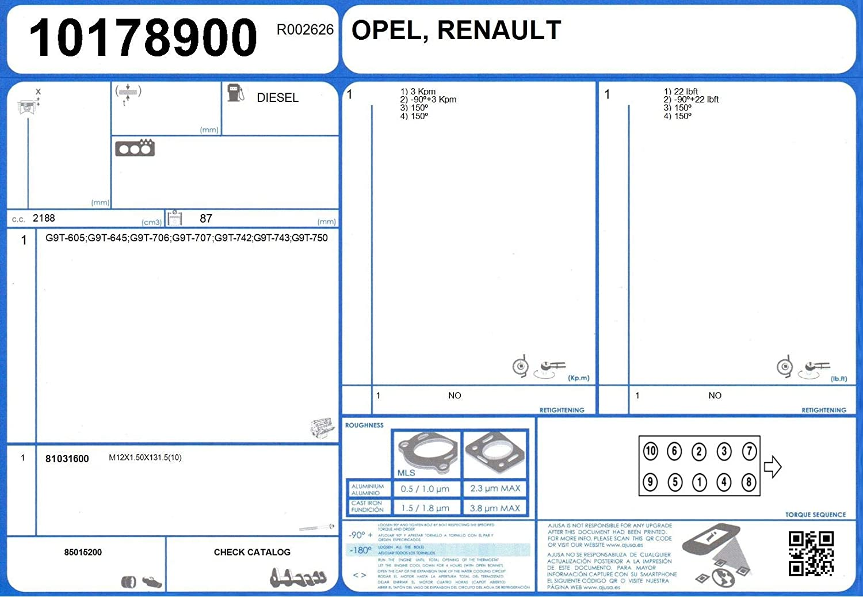 Ajusa 50279100 Dichtungsvollsatz Motor