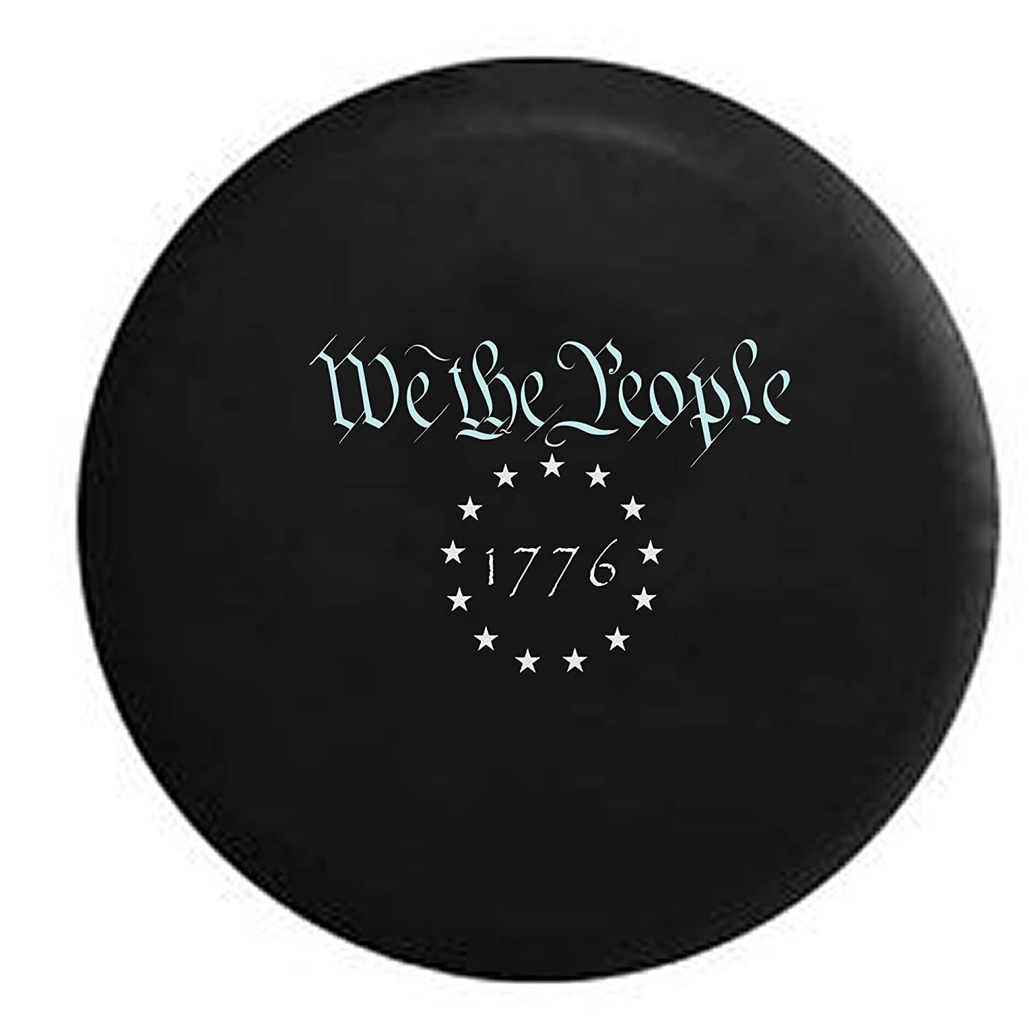 We The People 1776 US Constitution Freedom Rights Spare Tire Cover OEM Vinyl Black 30-31 in American Unlimited Gear