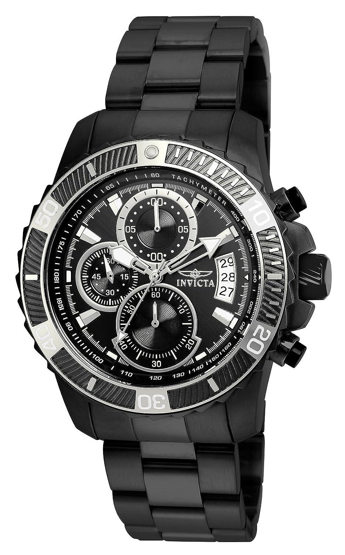 Invicta 22417 Pro Diver - Scuba Reloj para Hombre acero inoxidable Cuarzo Esfera negro
