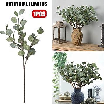 Kunstliche Blume Eukalyptus Blatter Kunstliche Silber Dollar