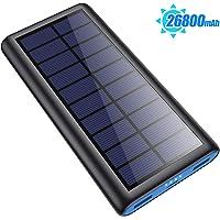 SWEYE Cargador Solar 26800mAh,【2020 Nueva Versión】Batería Externa Solar de Carga Rápida con 2 Puertos USB Powerbank con…