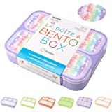 Unicorn Bento Lunch Box for Girls, Kids | Snack Containers with 4 Compartment Dividers, Boxes for Toddlers Pre-School Daycare