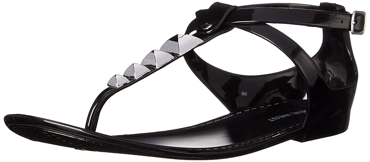 Nine West Dyligence sintético Jelly Sandal 37/38 EU|Black