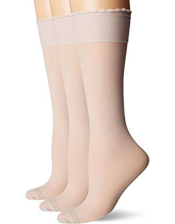 cc8e468d04cfc HUE Women's Graduated Compression Knee Hi Socks 3 Pair Pack, Assorted