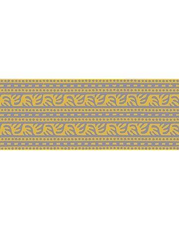 PLAGE Cenefa Adhesiva removible - Tankata Amarilla, acrílico, Amarillo, 300 x 0,