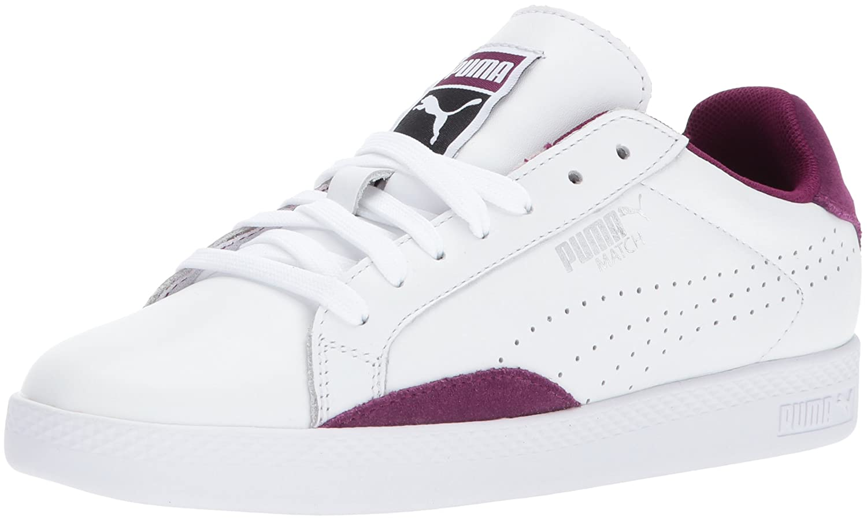PUMA Women's Match Lo Classic Wn Sneaker B01MRY2R9L 7 M US|Puma White-dark Purple