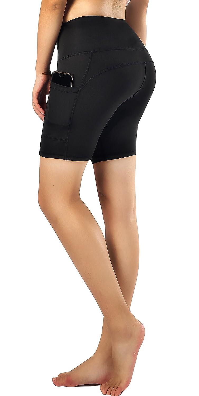 3 Sugar Pocket Women's Workout Leggings Running Tights Yoga Pants Red