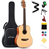 Donner 3/4 Acoustic Guitar Kit 36 Inch Dreadnought Acustica Guitarra Bundle for Beginner Adult Youth Teen Student Kid Travel
