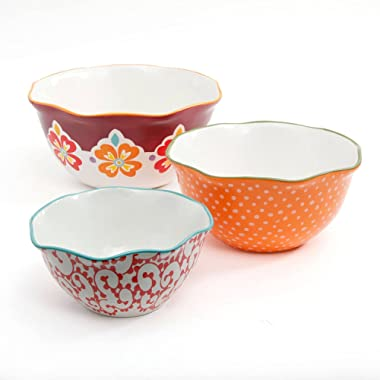 The Pioneer Woman Flea Market Scalloped Edge Serving Bowl Set, 3-Piece