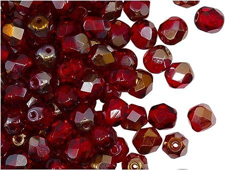 Etched Matte Rondelle Czech Beads 1 Strand of 25 Beads Dry Gulch Infernal 6x4mm Donut Czech Beads Etched Fire Polish Czech Glass Beads