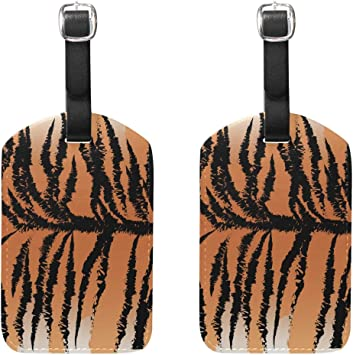 Tiger Pattern Print Luggage Tags Bag Travel Labels Tag for Baggage Suitcase