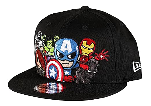 huge discount 36b5b 4d9f7 Image Unavailable. Image not available for. Colour  Tokidoki Marvel  Avengers New Era 9Fifty Men s Black Snapback Hat Captain America