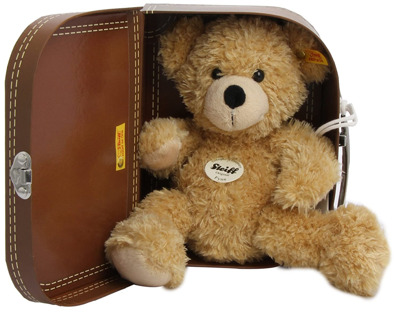 Steiff 111471 - Teddybär Fynn, beige, ca. 28 cm, mit Koffer Teddys Plüschartikel / Kuscheltiere