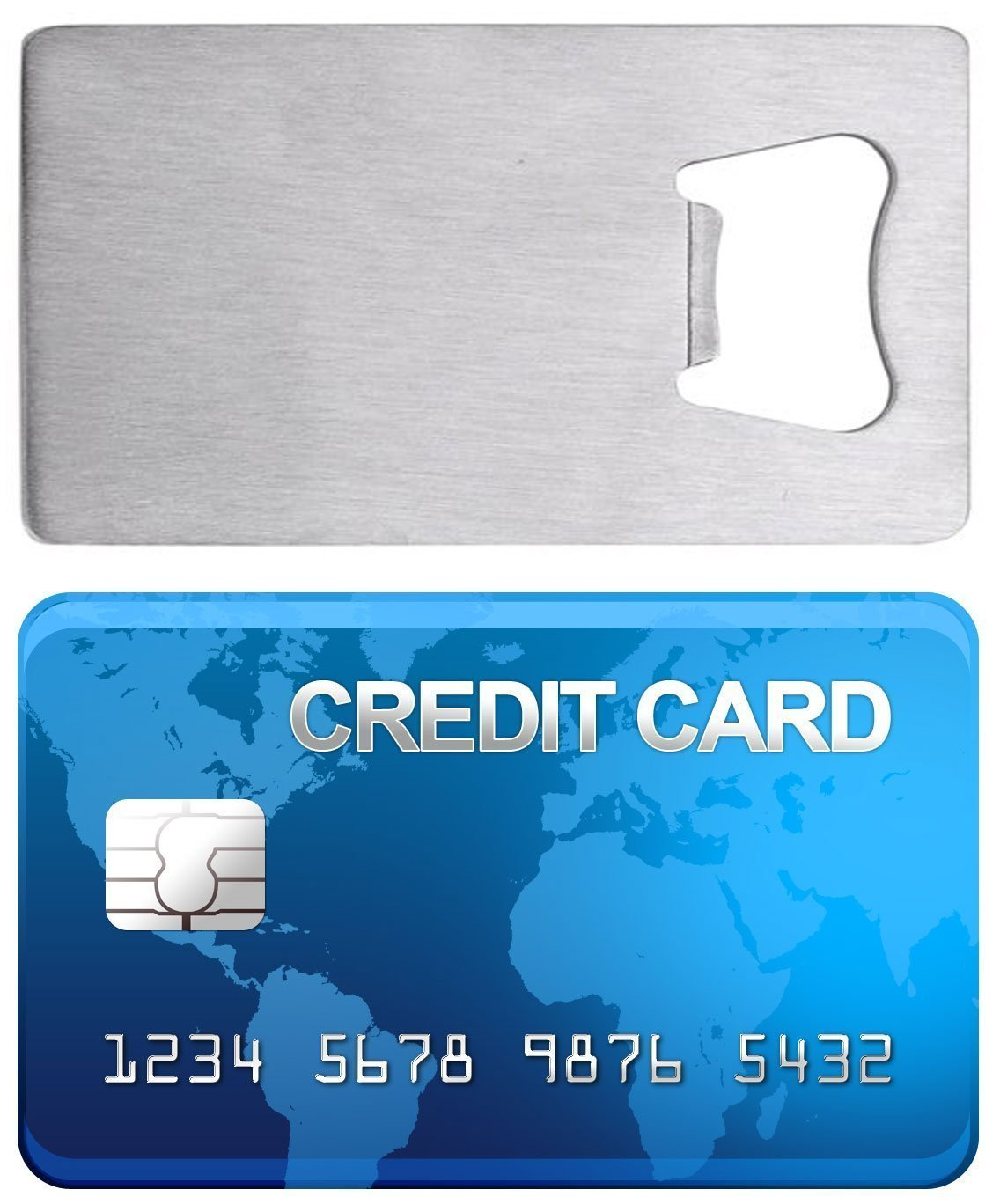 Amazon cjeslna credit card bottle opener for your wallet amazon cjeslna credit card bottle opener for your wallet stainless steel kitchen dining reheart Choice Image