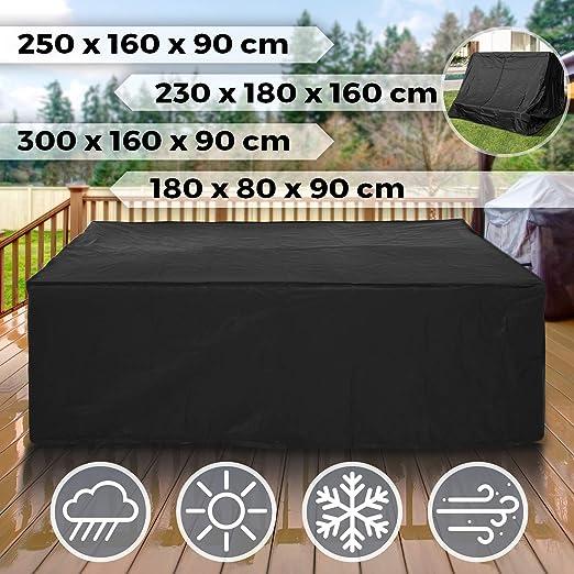 180 x 80 x 90 cm Tavolo Anti-UV//Vento//Polvere//Pioggia//Neve per Rattan Sedie Dimensioni a Scelta Copertura per Mobili da Giardino Impermeabile Telo Copritavolo da Esterno Lettino da Sole