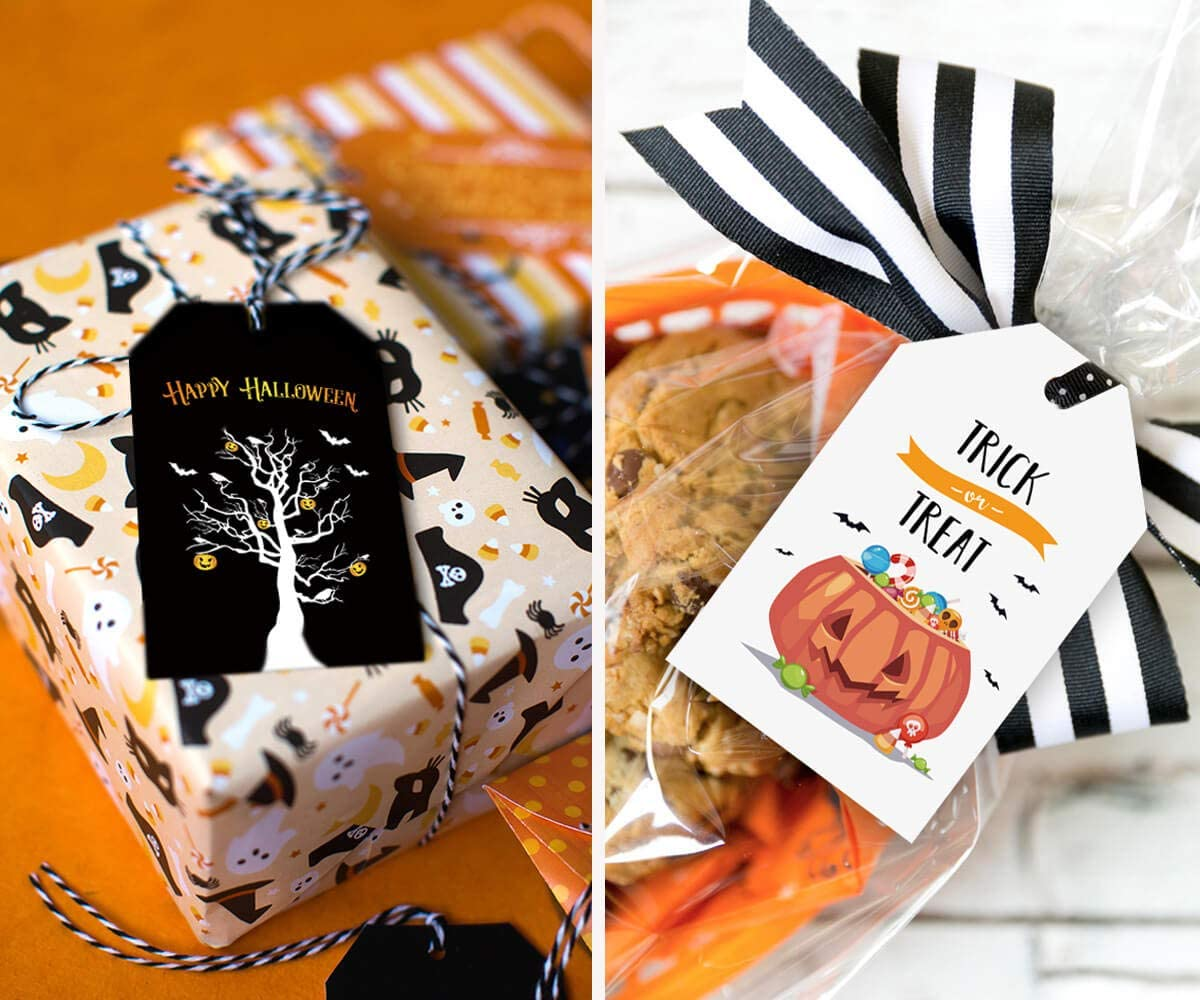 Halloween Bat Tent Cards  Place Cards  Food Labels Candy Dessert Bar Signage  Treat label signs Set of 5 layered tags