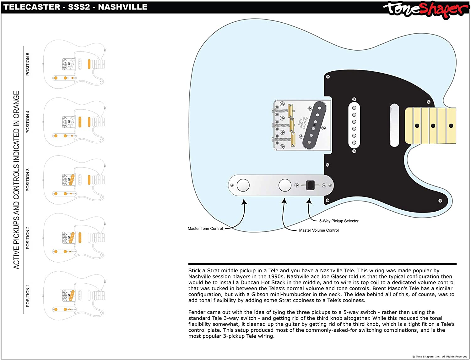 fender deluxe nashville telecaster wiring diagram free picture amazon com toneshaper guitar wiring kit  for fender telecaster  toneshaper guitar wiring kit