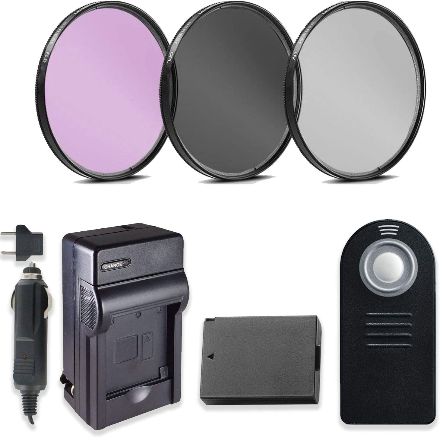 T7i /& EOS 77D DSLRs 58mm 3 Piece Filter Kit with High Def UV FLD /& CPL Filters Replacement LP-E17 Battery /& Travel Charger for Canon EOS Rebel T6i Wireless Shutter Release Remote