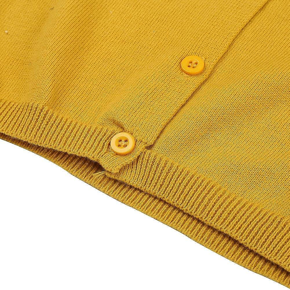 Loveble B/éb/é Filles Gar/çon Cardigan Automne Hiver Printemps Tricot Couleur Unie Manteau 1-5 Ans