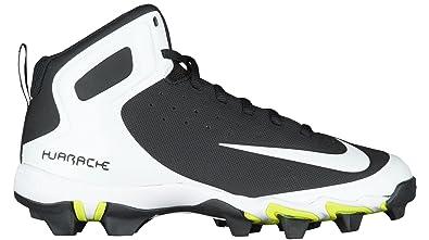 0614af2151a Nike Boy s Alpha Huarache Keystone Mid (BG) Baseball Cleat Black White Wolf