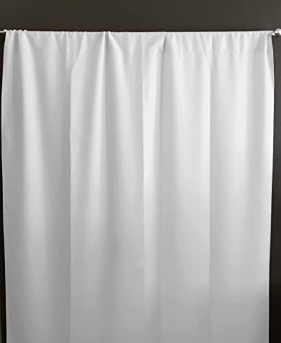 Zen Creative Designs Solid Poplin Curtain Backdrop Panel 58 Wide Home Window Decor Photo Studio Backdrop Panel 58 Wide White, 120 Tall