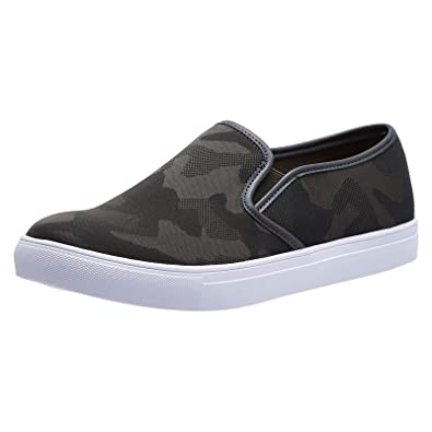 0417373fc37 Steve Madden Men's Benning Gray Canvas Slip On Sneakers Shoes 10 M ...