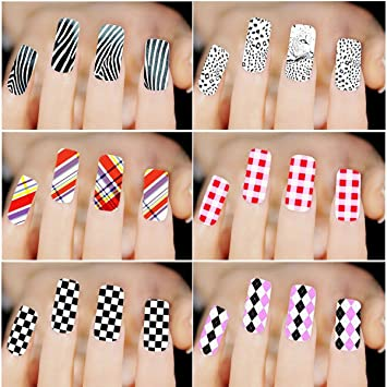 Amazon 6pcs Different Designs Nail Art Sticker Sexy Leopard