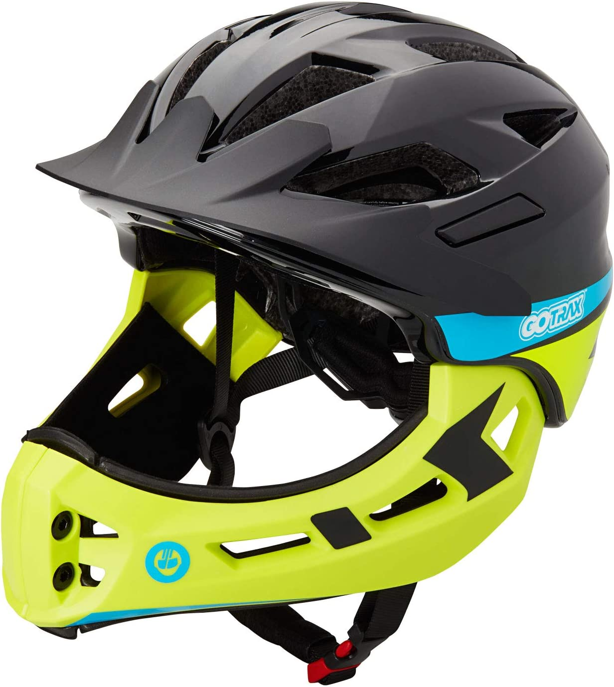 Gotrax Kids Bike Helmet, 2 in 1 Full Face Multi-Sport Helmet, CPSC Certified Ultralight Cycling Helmet 3-10 Years for Skateboarding, Scooter, Roller Skating