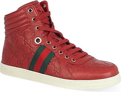 a434c58daad Amazon.com  Gucci Men s GG Guccissima Leather High-top Sneaker