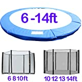 Greenbay Trampoline Replacement Spring Cover Pad Padding & Safety Net Bundle 6FT 8FT 10FT 12FT 13FT 14FT