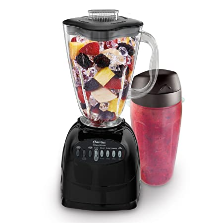 1. Oster Simple Blend 100 10-Speed Blender with Blend and Go Cup, Black