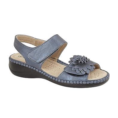 bde5140d6511f Boulevard - Sandales à Scratch - Femme: Amazon.fr: Chaussures et Sacs