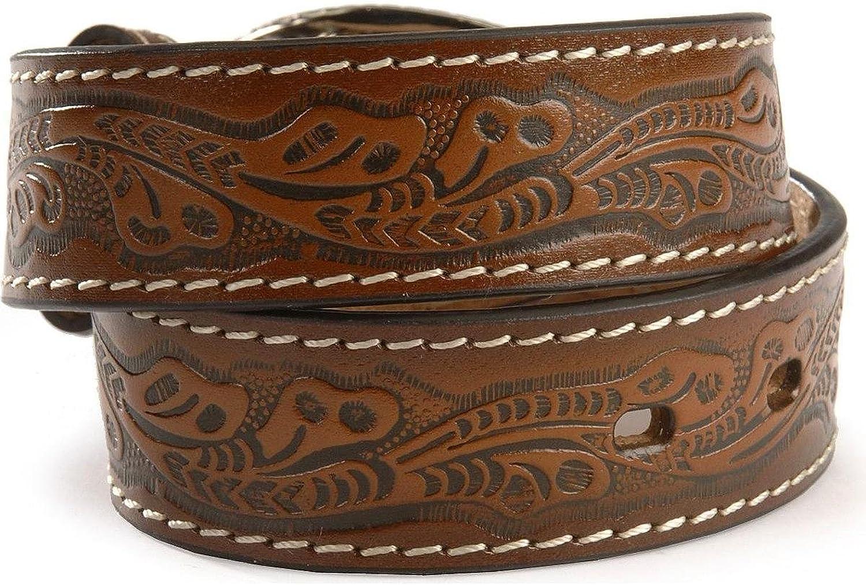 Nocona Boys Bull Rider Buckle Belt 22 Brown
