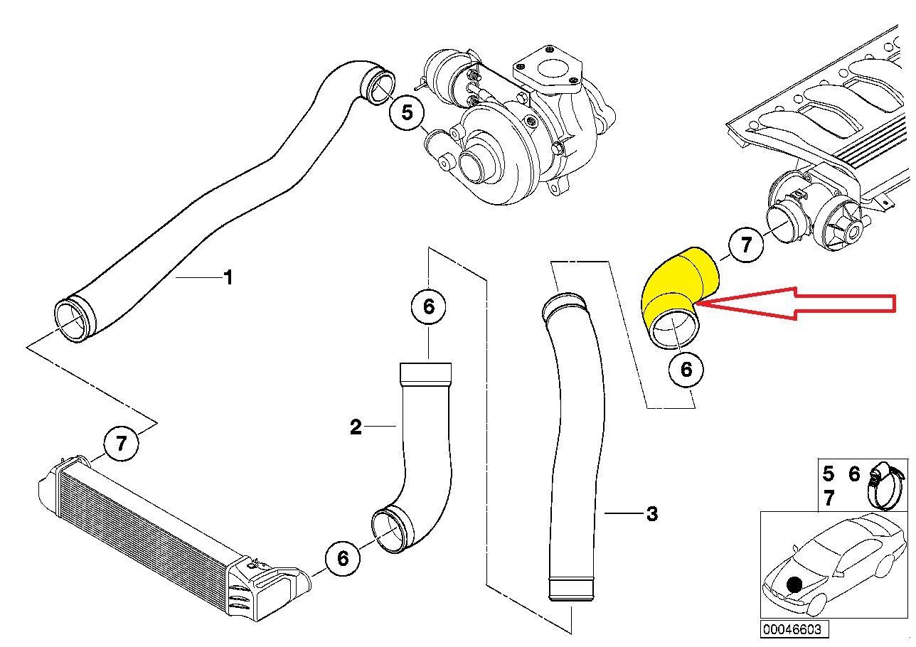 Marca nueva manguera de Intercooler Tubo Turbo 11617799391 11612247322: Amazon.es: Coche y moto