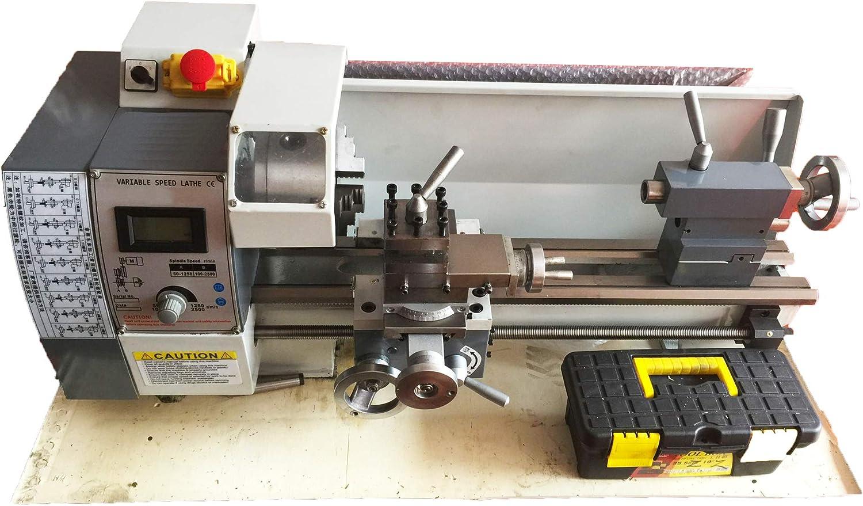 TECHTONGDA Brushless Motor Precision Mini Metal Lathe DIY Bench ...